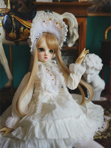BJD Clothes Girl White Lolita Dress for YOSD/MSD/SD Ball-jointed Doll