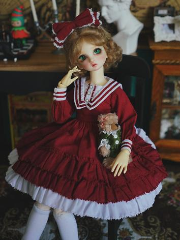 BJD Clothes Girl Wine Lolita Dress for YOSD/MSD/SD Ball-jointed Doll