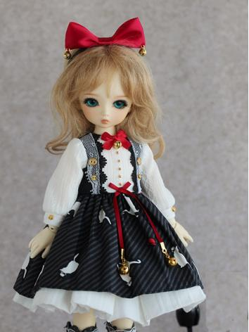 BJD Clothes Bell Cat Girl D...