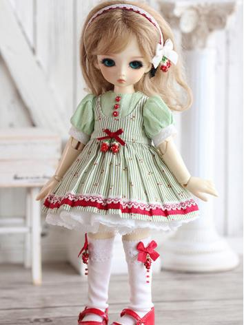 BJD Clothes Little Red Fruit Girl Dress for YOSD Ball-jointed Doll