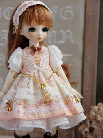 BJD Clothes Orange Girl Dre...