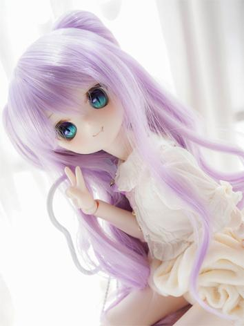 BJD Wig Girl Light Purple H...