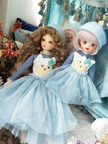 BJD Clothes Girl Cat star f...