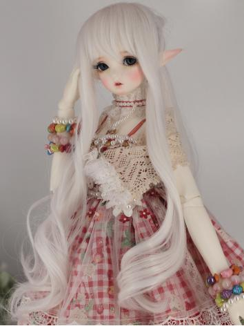 BJD Wig Girl Silver Curly H...