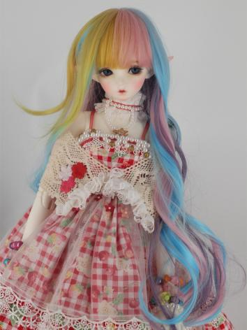 BJD Wig Girl Colourful 60cm...