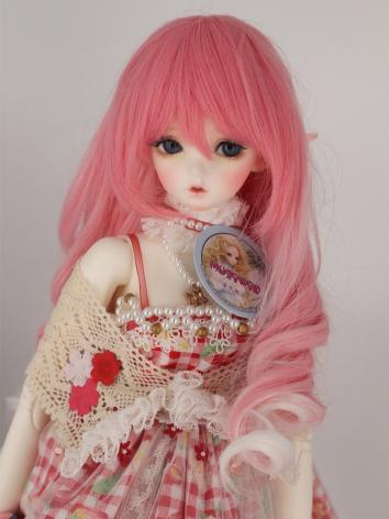 BJD Wig Girl With Bangs Lon...