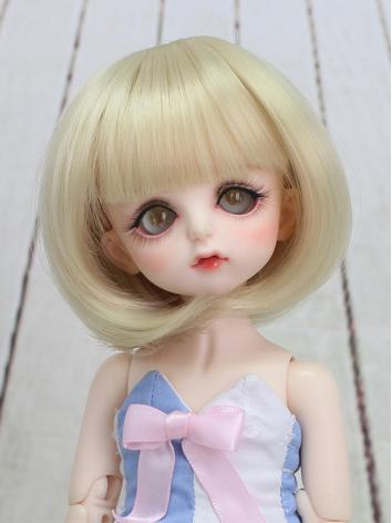 BJD Wig Girl Light Golden S...