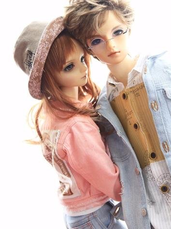 BJD Clothes Girl Pink Jeans...