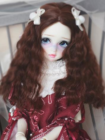 BJD Wig Girl Brown/Gold/Black Curly Hair for SD/MSD Size Ball-jointed Doll