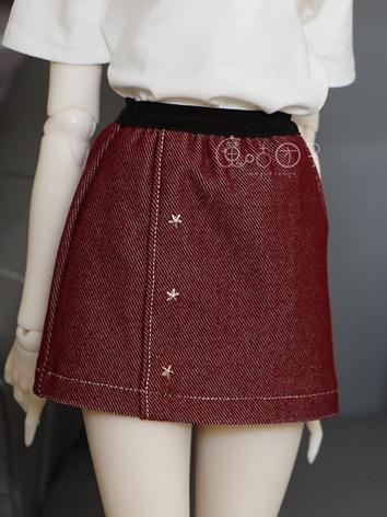 BJD Clothes Girl Black/Wine...
