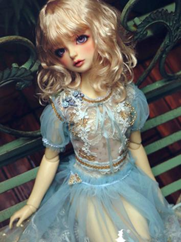 BJD Clothes Girl Blue Lace ...