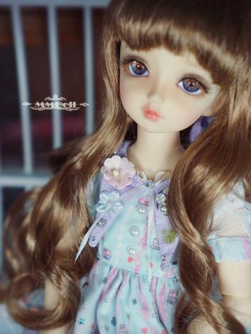 BJD Wig Girl Brown/Light Go...