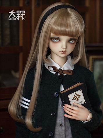 BJD Wig Girl Brown/Chocolate/Gray Hair Wig【MMD53】 for SD/MSD/YOSD Size Ball-jointed Doll