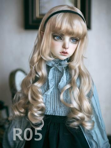BJD Wig Girl Light Brown Lo...