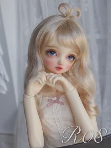 BJD Wig Girl Light Brown Long Curly Hair for SD/MSD/YOSD Size Ball-jointed Doll