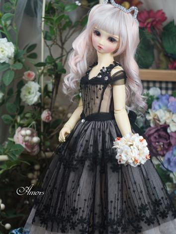 【Limited Item】BJD Clothes 1/3 Girl Pink/White/Black Dress for SD Ball-jointed Doll