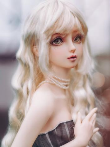 BJD Wig Girl Light Gold Long Curly Hair for SD/MSD/YOSD Size Ball-jointed Doll