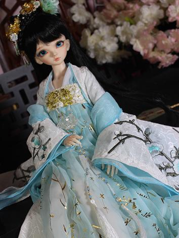 1/4 Clothes Girl Ancient Costume Dress Outfit for MSD Ball-jointed Doll