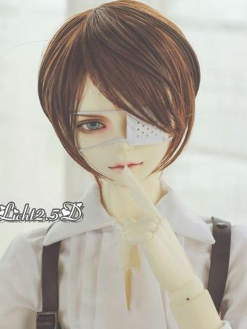 BJD Wig Boy White/Gray/Oran...
