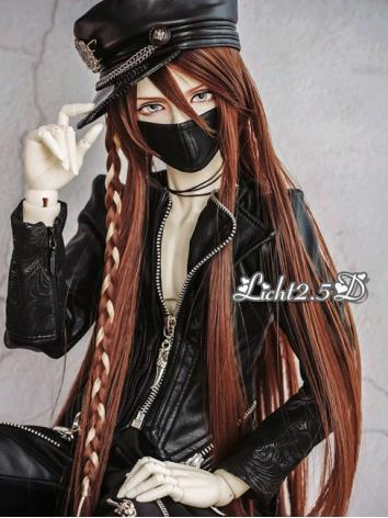 BJD Wig Boy Brown/Coffee Lo...