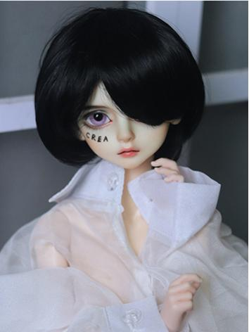 BJD Wig Boy Green/Black Sho...