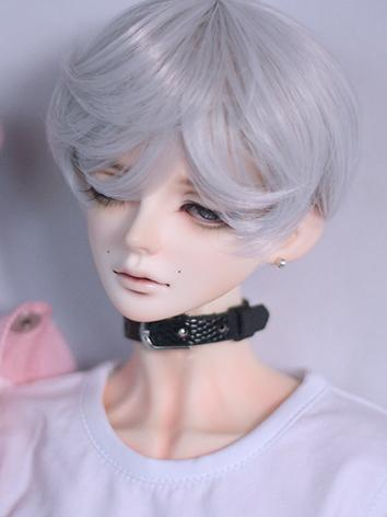 BJD Wig Boy Black/White/Bro...