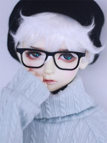 BJD Wig Boy Black/White/Pin...