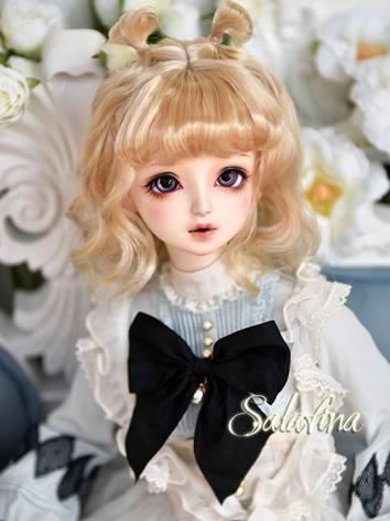 BJD Wig Girl Gold/Light Gol...