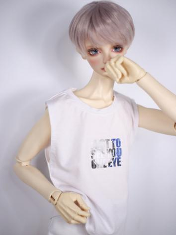 1/3 1/4 70cm Clothes Pink/Dark Blue/White Vest T-shirt A266 for MSD/SD/70cm Size Ball-jointed Doll