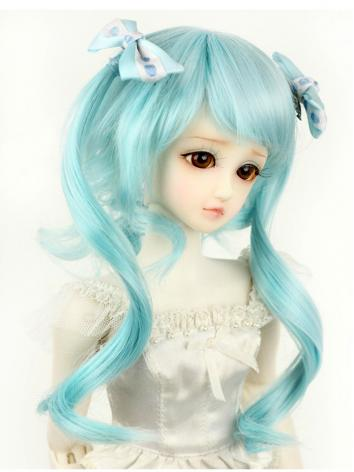 BJD 1/4 Wig Aquamarine Long...