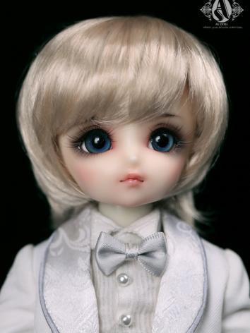 BJD 1/6 Light Gold Short Wig WG614091 for YOSD Size Ball-jointed Doll