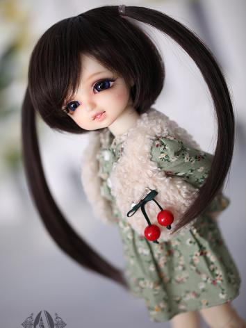 BJD 1/6 Horsetail Straight Hair WG614101 for YOSD Size Ball-jointed Doll