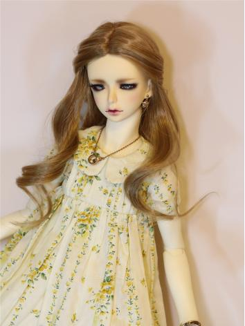 BJD Clothes Girl Yellow Floral Dress Fit for SD13/SD10/SDGR Ball-jointed Doll