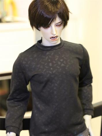 BJD Clothes Black Print T-S...
