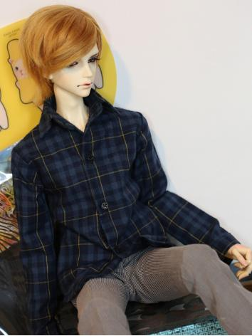 BJD Clothes Dark Blue Shirt...