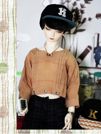 BJD Clothes Boy/Girl Dark khaki Short Top Fit for SD13/SD17 Size Ball-jointed Doll