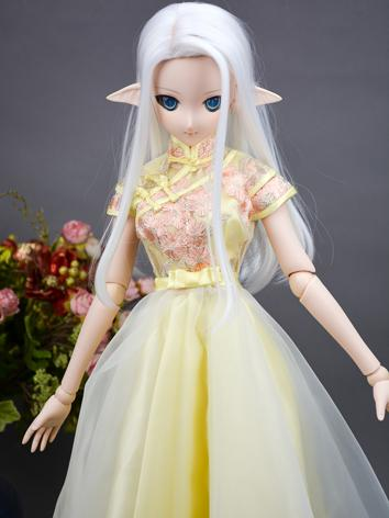 BJD Clothes Girl Yellow Dress for MSD/SD/DD/65CM Ball-jointed Doll