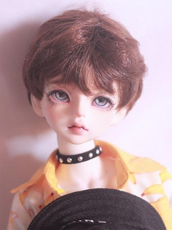 BJD Wig Boy Silver/Brown Ha...
