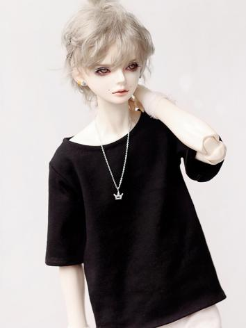 BJD Clothes Boy Black T-shi...