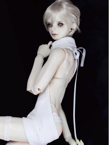 BJD Clothes Black/White Hig...
