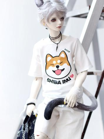 BJD Clothes White T-shirt S...