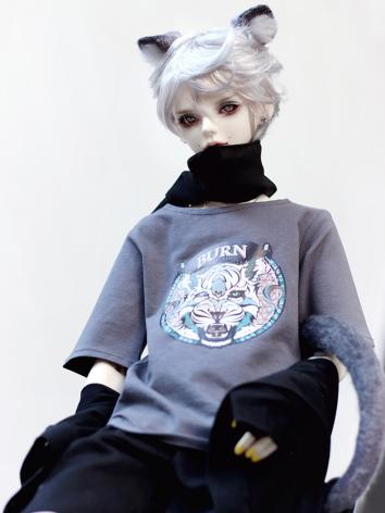 BJD Clothes Gray T-shirt Ti...