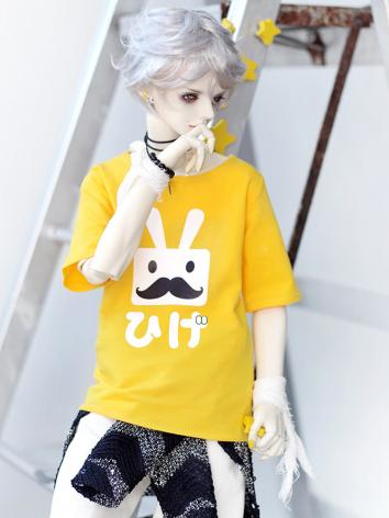 BJD Clothes Yellow T-shirt ...