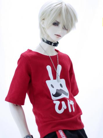 BJD Clothes Red T-shirt Rab...