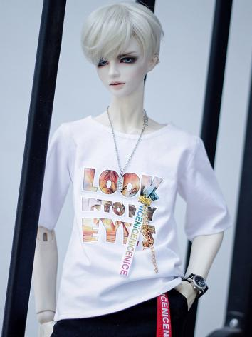 BJD Clothes White T-shirt f...
