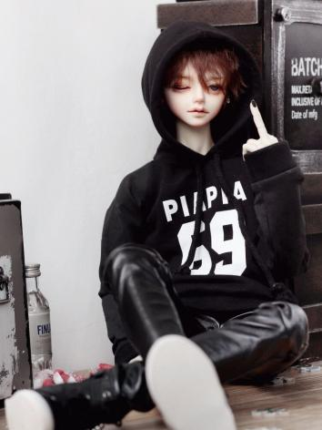 BJD Clothes Black Sweatshir...