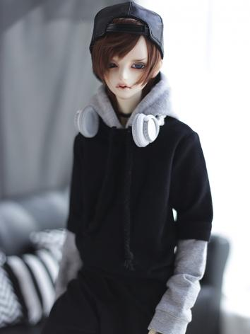 BJD Clothes Gray-black Stit...