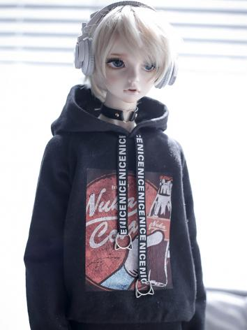 BJD Clothes Black Cola Hood...