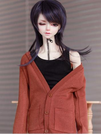 BJD Clothes Boy Coat Pink/G...