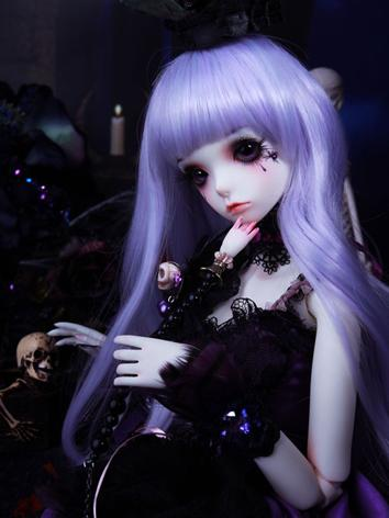 BJD Wig Girl Purple Hair Wi...